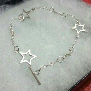 ⤵️⤵️925 Sterling Silver Starry Stars Bracelet